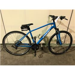 BLUE TREK 27-SPEED FRONT SUSPENSION MOUNTAIN BIKE W/ FULL DISK BRAKES