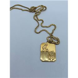 18K 17INCH CHAIN WITH PENDANT