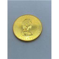 1980 CANADA MAPLE LEAF 1 OUNCE GOLD COIN