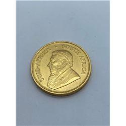1974 SOUTH AFRICA KOUGERRAN 1 OUNCE GOLD COIN