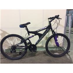 BLACK SUPERCYCLE 21-SPEED FULL SUSPENSION MOUNTAIN BIKE