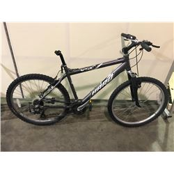 2 BIKES - GREY HARO 21-SPEED FRONT SUSPENSION MOUNTAIN BIKE ( DAMAGED SHIFTER ) , RED NORCO SINGLE