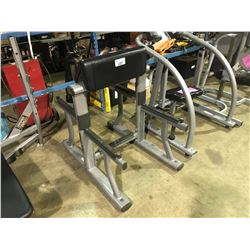 GREY LIFEFITNESS COMMERCIAL FREE BAR CURL BENCH