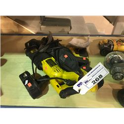 2 CORDLESS DEWALT RECIPROCATING SAWS WITH BATTERIES AND MASTERCRAFT CORDED GRINDER