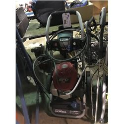 HOMELITE 2700 PSI GAS POWERED PRESSURE WASHER WITH WAND AND HOSE  AND HONDA 160 MOTOR