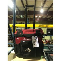 HUSKY ROLLING TOOL CASE WITH TOOL CONTENTS, SCREWDRIVERS & SOCKETS AND MORE
