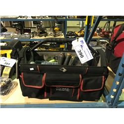 HUSKY TOOL BAG AND TOOL CONTENTS, SCREWDRIVERS & HARDWARE AND MORE