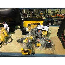 DEWALT DRILL AND DRIVER SET WITH 2 BATTERIES & CHARGER AND TOOL BAG