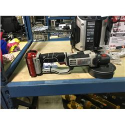 """PORTER CABLE PCC761 4.5"""" 20V CORDLESS GRINDER WITH BATTERY"""