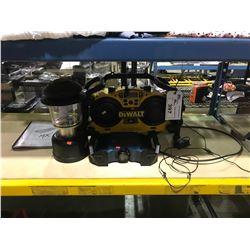 DEWALT DC011 WORKSITE RADIO & BOSCHPB120 PORTABLE RADIO AND COLEMAN LANTERN