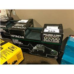 """HITACHI 4-1/2"""" 115MM DISC GRINDER IN CASE"""