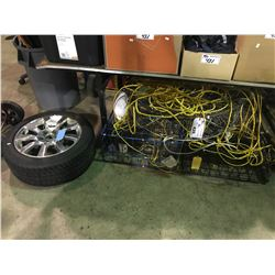 """YOKAHAMA 18"""" TIRE AND 3 CRAB TRAPS AND GARDEN TOOLS"""