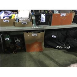 2 SUMP PUMPS HOCKEY BAG & CONTENTS AND ASSORTED HOSES