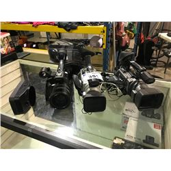 3 SONY PROFESSIONAL CAMCORDERS ( NO CHARGERS )