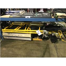 SMALL YELLOW FOLDING SCAFFOLD & DUAL WORKLIGHTS AND MORE