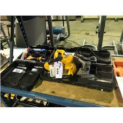 DEWALT ELECTRIC RECIPROCATING SAW & DEWALT 18V CIRCULAR SAW WITH BATTERY RIGID NAIL GUN AND MORE