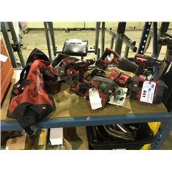 ASSORTED MILWAUKEE M18 CORDLESS TOOLS INCLUDES CIRCULAR SAWS & SAWZALL & BATTERIES AND MORE