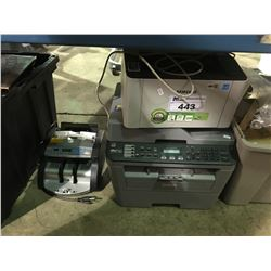 2 PRINTERS AND CASH COUNTER