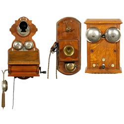 2 Wall Telephones and 1 Bell