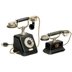 2 German Table Telephones