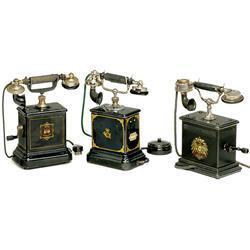3 European Table Telephones