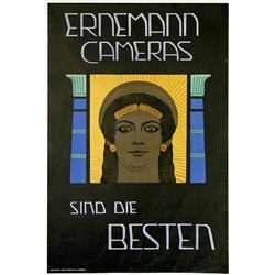 Advertising Poster Ernemann Cameras, c.
