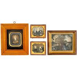 4 Daguerreotypes, 1850-55
