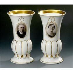 2 Porcelain Vases with Original Photogr
