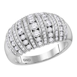 1 CTW Womens Round Diamond Band Ring 10kt White Gold - REF-81N7A