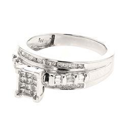 0.50 CTW Diamond Ring 14K White Gold - REF-57R6K