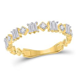 1/3 CTW Womens Baguette Diamond Modern Band Ring 14kt Yellow Gold - REF-34V3Y