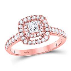 3/4 CTW Princess Diamond Solitaire Bridal Wedding Engagement Ring 14kt Rose Gold - REF-91V3Y