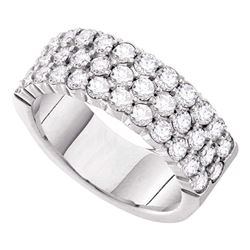1 CTW Womens Round Diamond Wedding Pave Band Ring 14kt White Gold - REF-115H8R