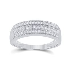1/3 CTW Womens Round Diamond Band Ring 10kt White Gold - REF-27Y3N