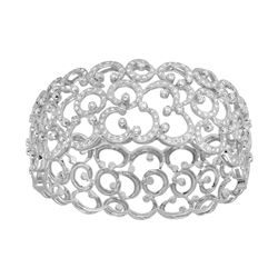 5.47 CTW Diamond Bangle 18K White Gold - REF-715X8R