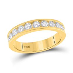 1 CTW Womens Round Diamond Wedding Band Ring 14kt Yellow Gold - REF-119H5R