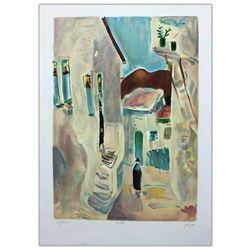 "Nachum Gutman- Original Lithograph ""Alley In Safed"""
