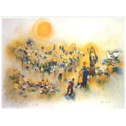"Ben Avram- Original Serigraph ""Jerusalem of gold"""