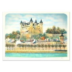 """Rolf Rafflewski, """"Chateau III"""" Limited Edition Lithograph, Numbered and Hand Signed."""