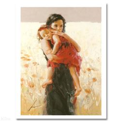 """Pino (1939-2010) """"Maternal Instincts"""" Limited Edition Giclee. Numbered and Hand Signed; Certificate"""
