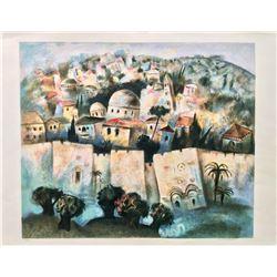 """Gregory Kohelet- Original Serigraph """"Sunrise in Jerusalem"""""""