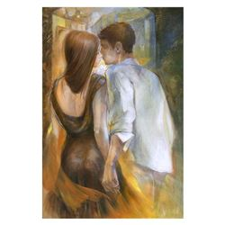 """Lena Sotskova, """"The Date"""" Hand Signed, Artist Embellished Limited Edition Giclee on Canvas with COA."""