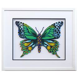 "Patricia Govezensky- Original Painting on Laser Cut Steel ""Butterfly CCXXI"""