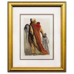 "Salvador Dali- Original Color Woodcut on B.F.K. Rives Paper ""Purgatory 5"""