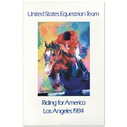 """Leroy Neiman (1921-2012), """"United States Equestrian Team/Riding for America/Los Angeles 1984"""" Fine A"""