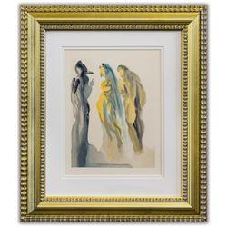 "Salvador Dali- Original Color Woodcut on B.F.K. Rives Paper ""Paradise 9"""