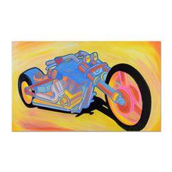 "Ringo Daniel Funes (Protege of Andy Warhol's Apprentice, Steve Kaufman), ""Steel Horse of Mine"" One-o"