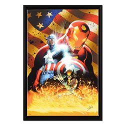 "Michael Turner (1971-2008) & Marvel Comics, ""Civil War #1"" Framed Limited Edition on Canvas, Numbere"