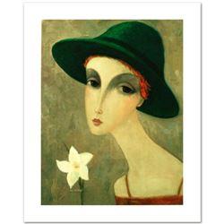 "Legendary Russian Artist Sergey Smirnov (1953-2006). ""Natalia"" Limited Edition Mixed Media on Canvas"