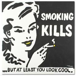 """""""Smoking Kills"""" Limited Edition Lithograph by Todd Goldman, Numbered and Hand Signed with Certificat"""